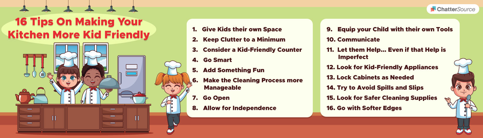 making your kitchen more kid-friendly infographic