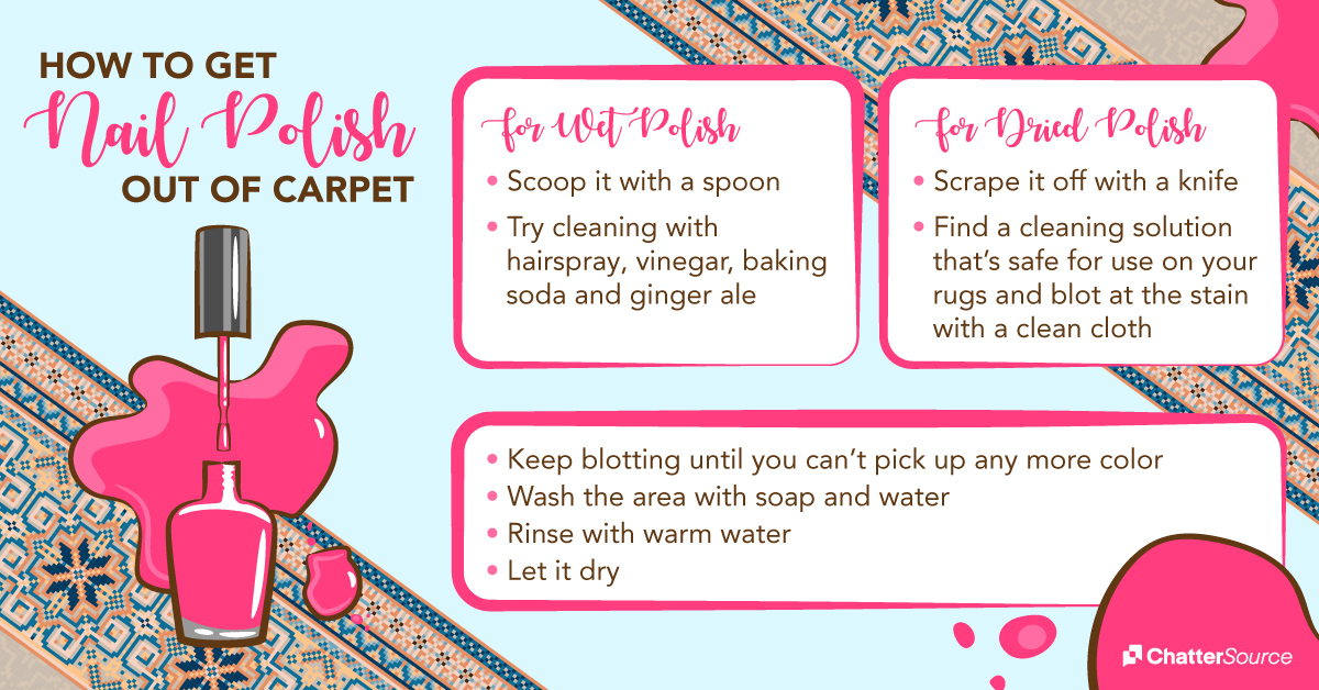 How to get nail polish out of carpet infographic