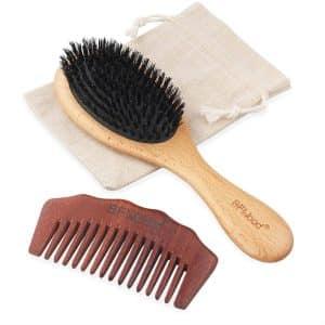 BFWood Boar Bristle Hair Brush
