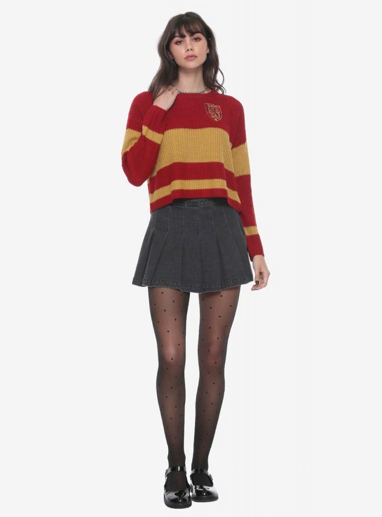 Harry Potter Gryffindor Girls Quidditch Sweater