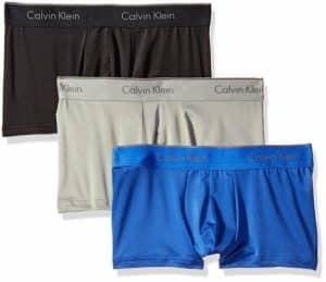 Calvin Klein Underwear Men's Microfiber Stretch 3 Pack Low Rise Trunks