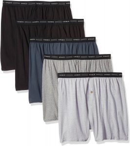 Hanes Men's Exposed Waistband Knit Boxers