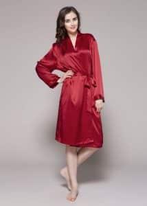 Classic Mid Silk Robe