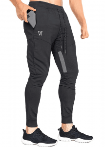 ZENWILL Men's Tapered Workout Pants