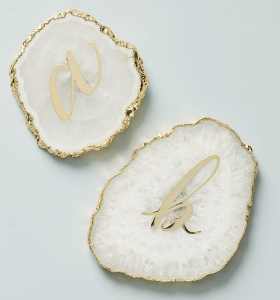 Monogram Agate Coasters