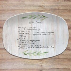 Handwritten Recipe Personalized Platter