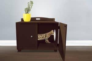 Tiger Tough Classic Bench Hidden Cat Litter Enclosure