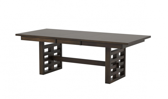"""Juana Walnut Dining Table with 18"""" Extension Leaf"""