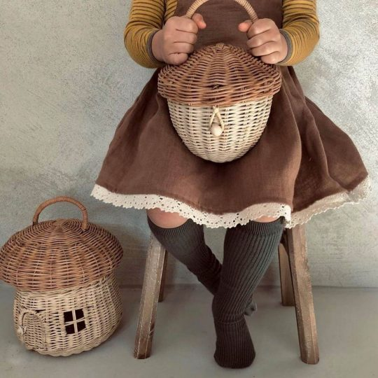 Child holding basket from Wild Little Fawns