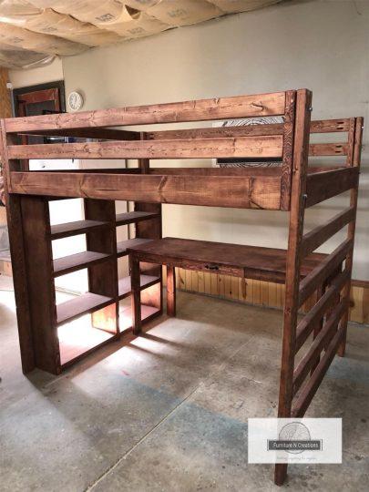 FurnitureNcreations Full Loft with Desk