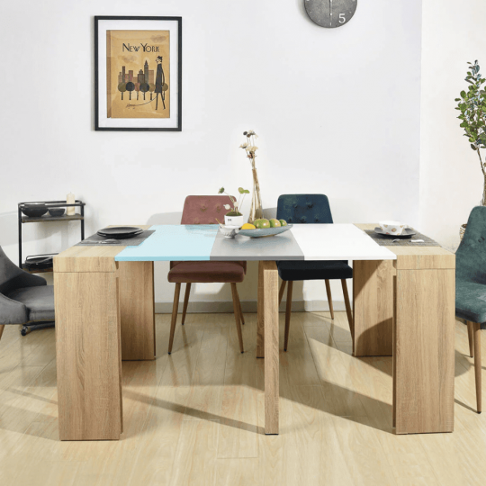 Multi-Colored E1 MDF Wooden Extendable Table