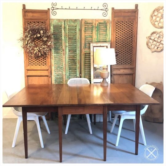 1960s Walnut Drop Leaf Table