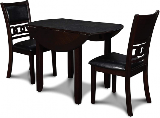 New Classic Furniture Gia Drop Lelaf Dining Table