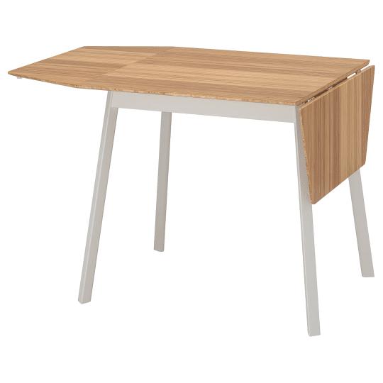 Ikea bamboo drop leaf table