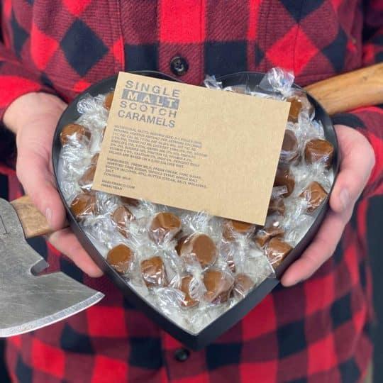 Single Malt Scotch Caramel Heart Box