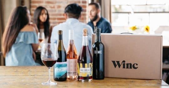 Winc wine subscription box