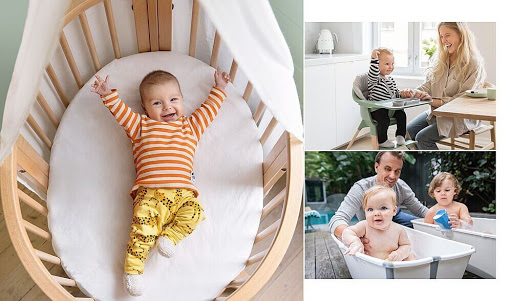 Baby in crib from Stokke Baby