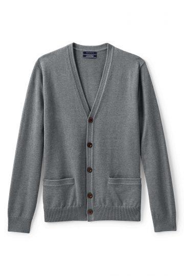 Classic Fit Supima Cotton Cardigan Sweater