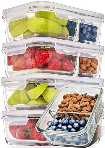 Prep Naturals 2-Compartment Containers