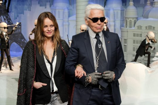 Vanessa Paradis and Karl Lagerfeld