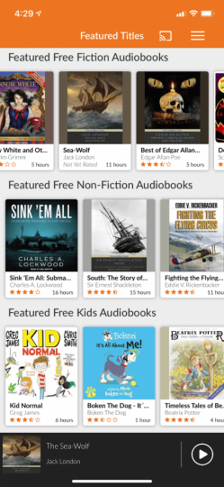 Featured Free Fiction Audiobooks