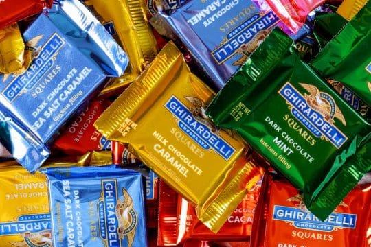 A bunch of Ghirardelli chocolates