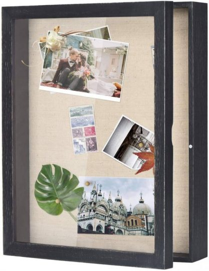 Postcards in a shadowbox