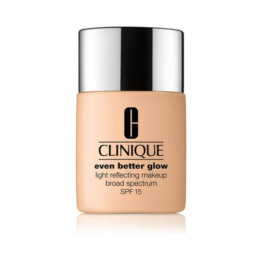 Looking for a glow-inducing makeup product rather than a serum or a moisturizer? The Clinique Even Better Glow Light Reflecting Makeup is a foundation with a broad spectrum SPF 15. If it's glow you want, it's glow you'll get!
