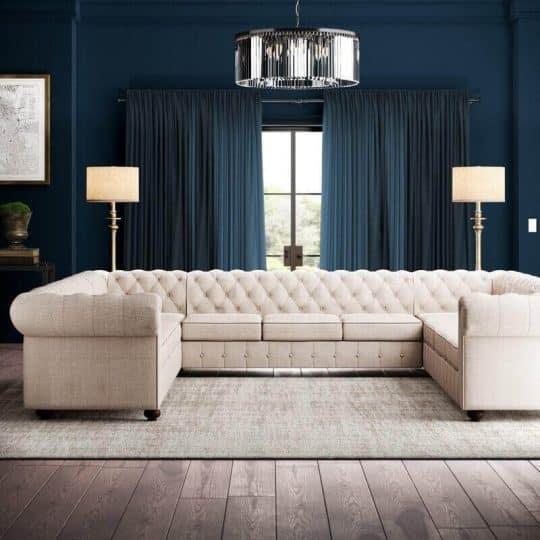 "Quitaque 135"" Symmetrical Sectional Wayfair sofa"