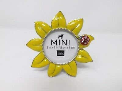 Mini sunflower picture frame
