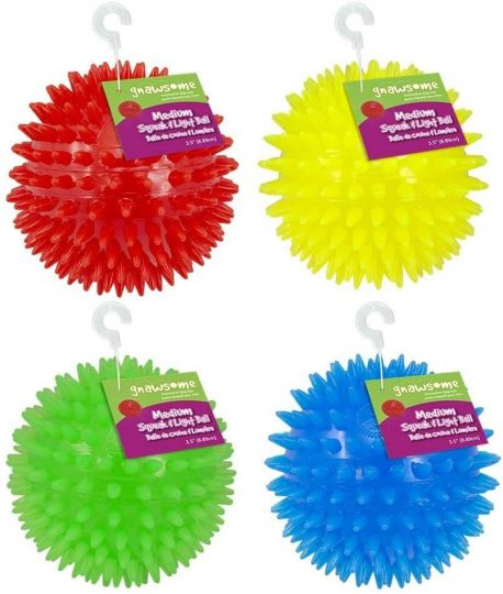 Gnawsome Squeak and Light LED Ball Toy