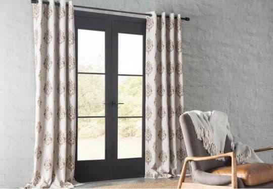 Atticus Ikat Room Darkening Thermal Grommet Single Curtain Panel