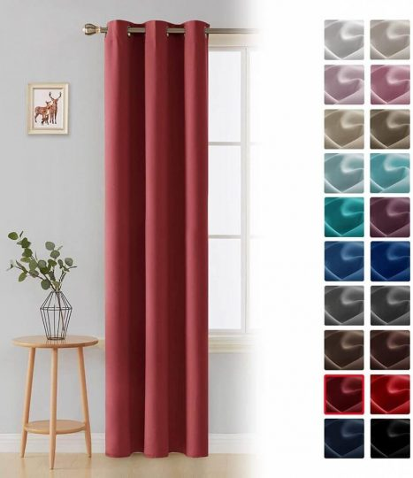 Deconovo Room Darkening Thermal Insulated Blackout Grommet Curtain Panel