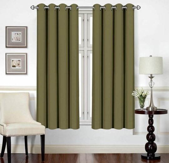 Utopia Bedding 2 Panels Thermal Insulated Blackout Curtains