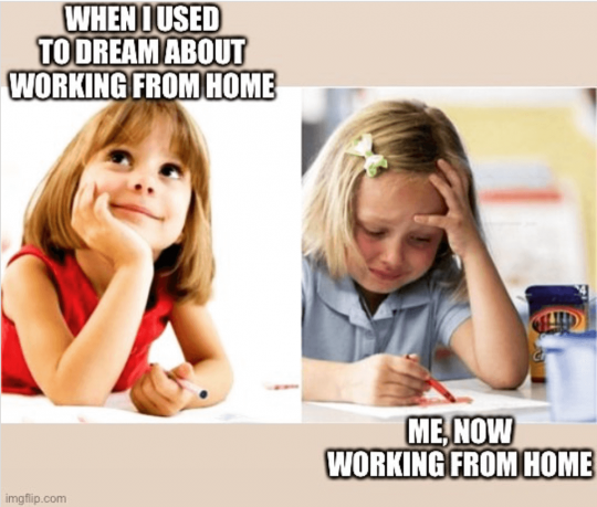 When I used to Dream about working from home...me, now working from home with girl going from happy to sad
