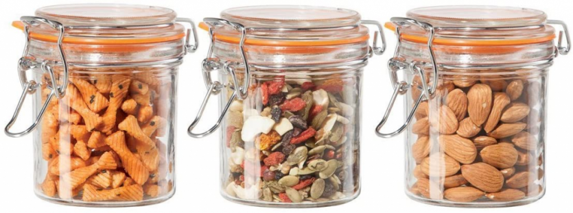 Oggi Round Glass Canisters