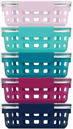 Best Non-Slip Option: Ello Duraglass Glass Food Storage Containers