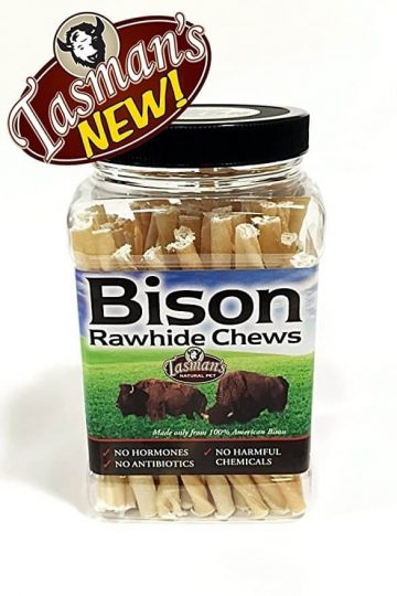 Tasman's Natural Pet Small Bison Rawhide Twisters