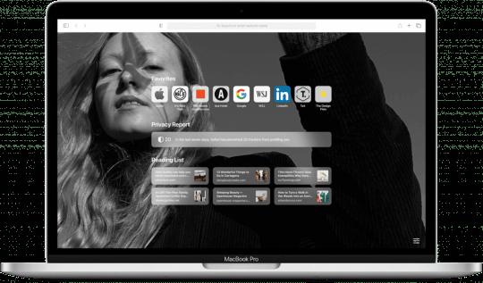 Macbook open to Safari
