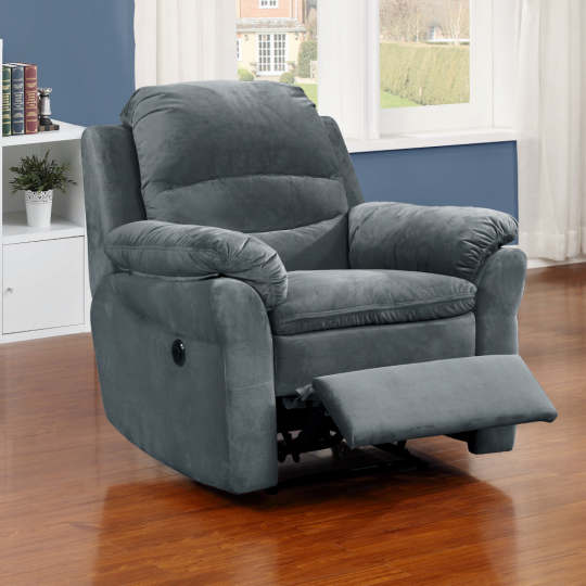 AC Pacific Felix Fabric Living Room Electric Recliner Power Chair