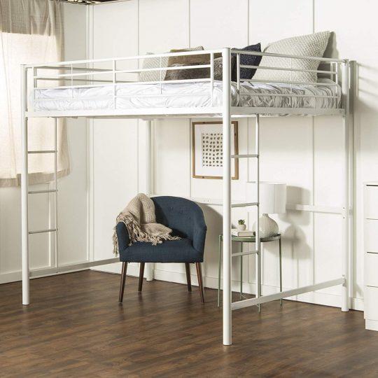 Delacora WE-BDDOL Full Steel Loft Bed