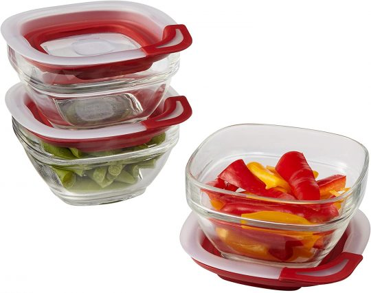 Rubbermaid Easy Find Glass Food Storage Containers