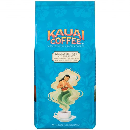 Kauai Whole Bean Coffee, Koloa Estate Medium Roast