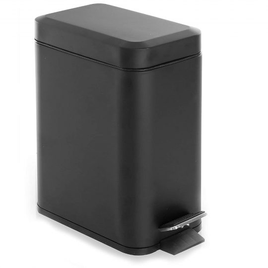 BINO Stainless Steel Rectangle Step Dog Proof Trash Can