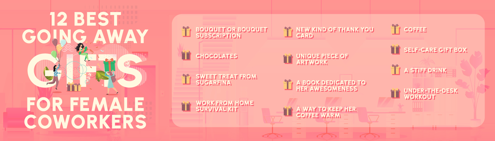 best going away gifts for coworkers infographic