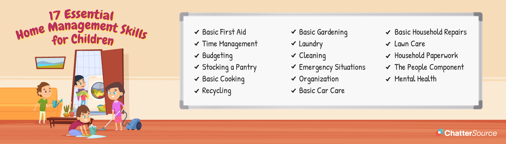 Home Management Skills infographic