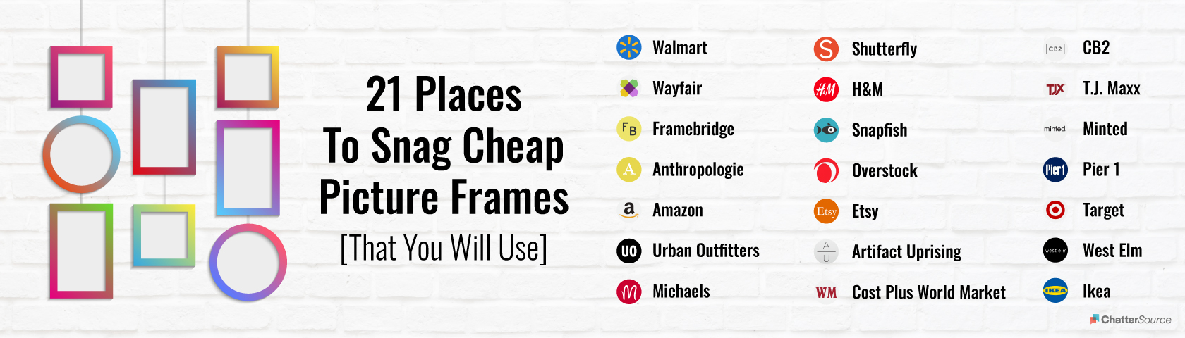picture frames infographic