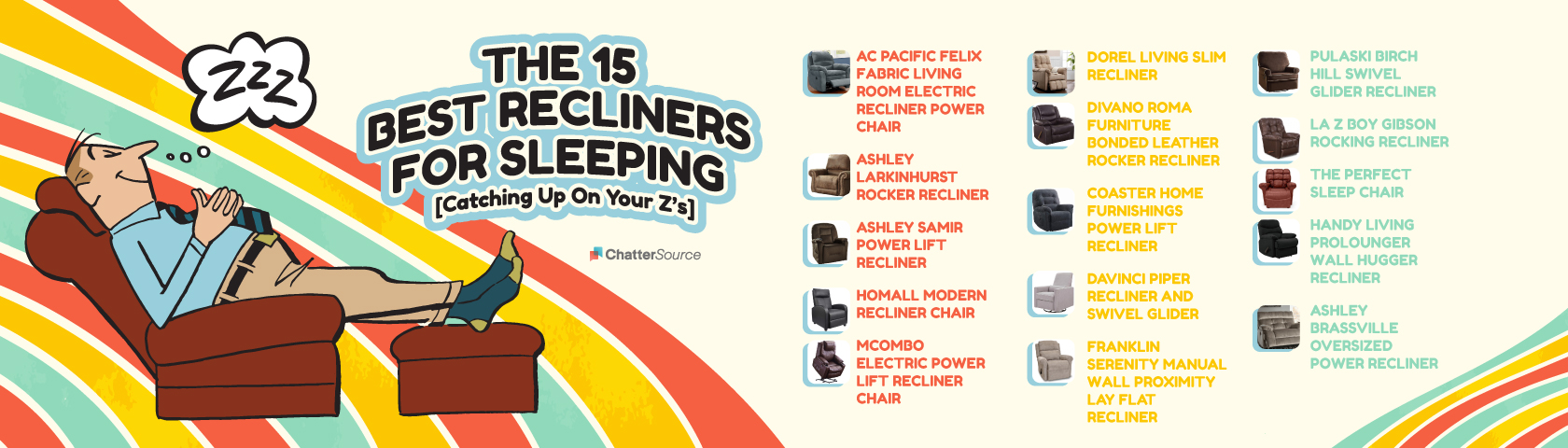Recliners for sleeping infographic