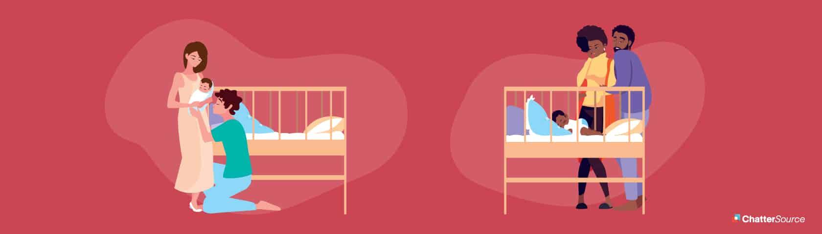 safe crib graphic