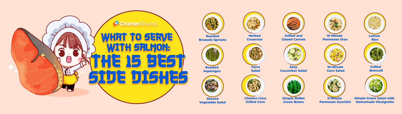 salmon side dishes infographic